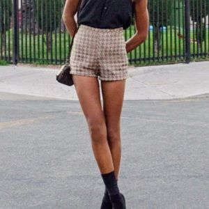 American Apparel High Waisted Houndstooth Shorts